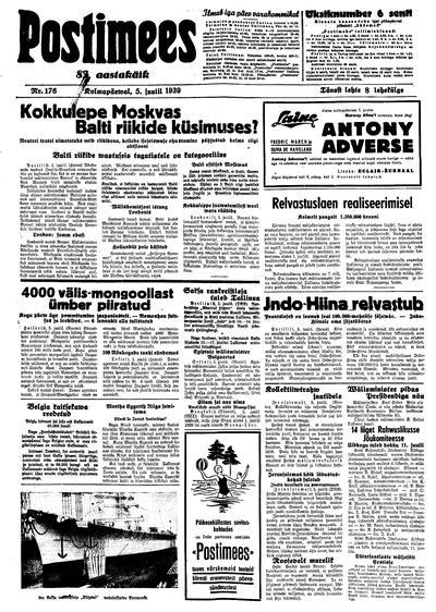 Postimees - 1939-07-05