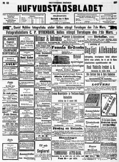 Hufvudstadsbladet, nr: 63 - 1901-03-06