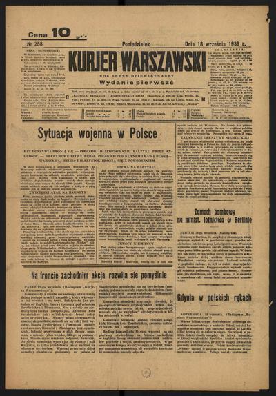 Kurjer Warszawski - 1939-09-18