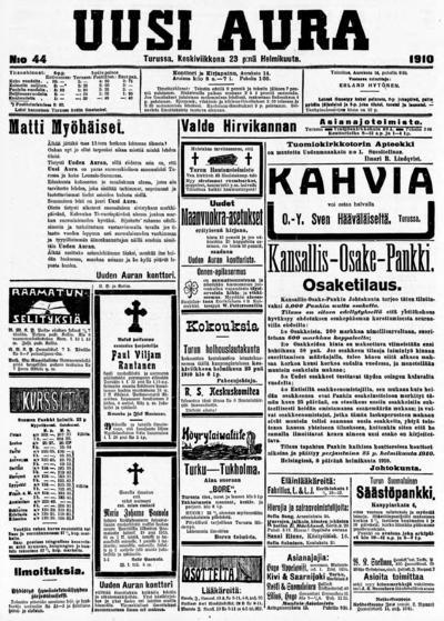 Uusi Aura, nr: 44 - 1910-02-23