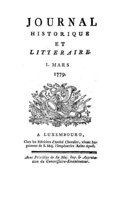 Journal historique et littéraire - 1779-03-01