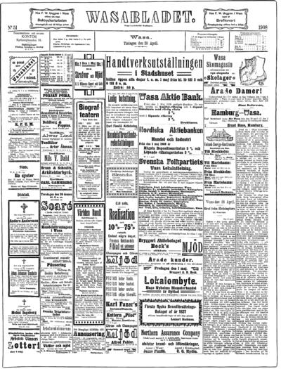 Vasabladet, nr: 51 - 1908-04-28
