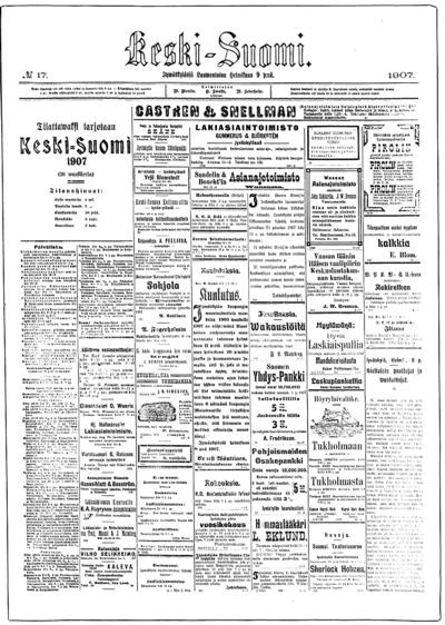 Keski-Suomi, nr: 17 - 1907-02-09