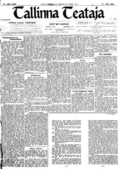 Tallinna Teataja - 1911-09-28