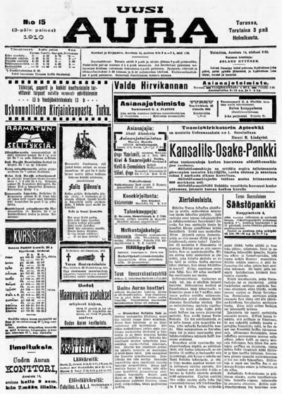Uusi Aura, nr: 15 - 1910-02-03