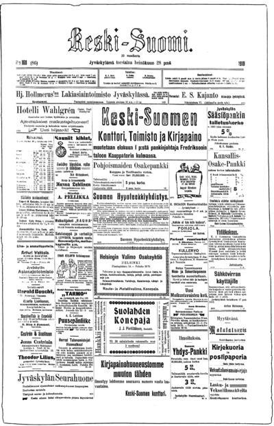 Keski-Suomi, nr: 168 - 1910-07-28