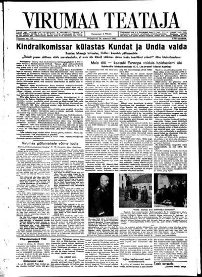 Virumaa Teataja - 1942-10-29