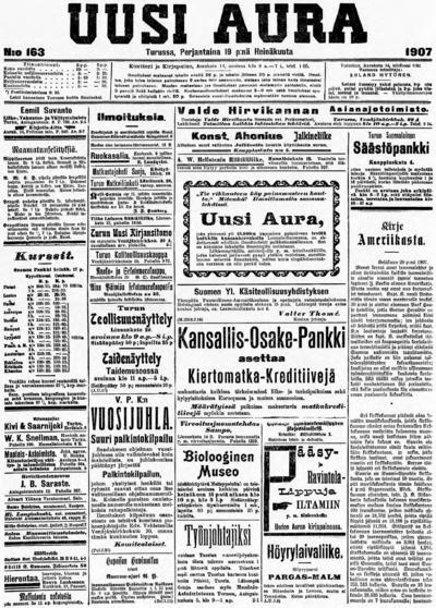 Uusi Aura, nr: 163 - 1907-07-19