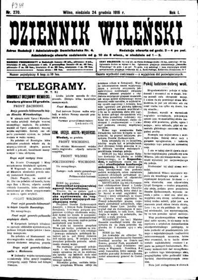 Dziennik Wileński - 1916-12-24