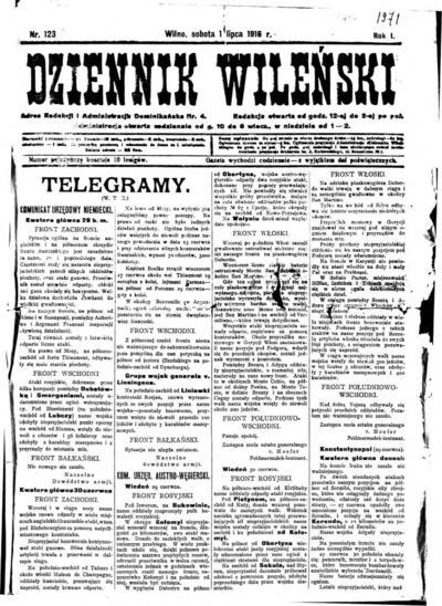 Dziennik Wileński - 1916-07-01