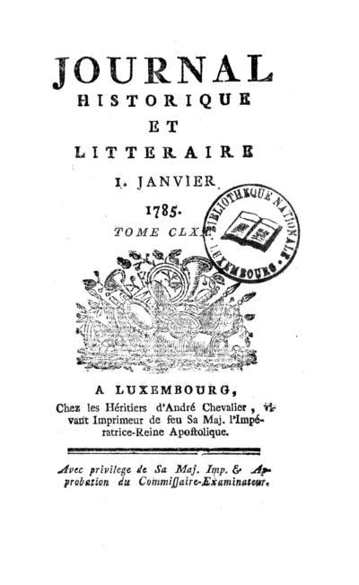 Journal historique et littéraire - 1785-01-01