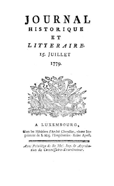 Journal historique et littéraire - 1779-07-15