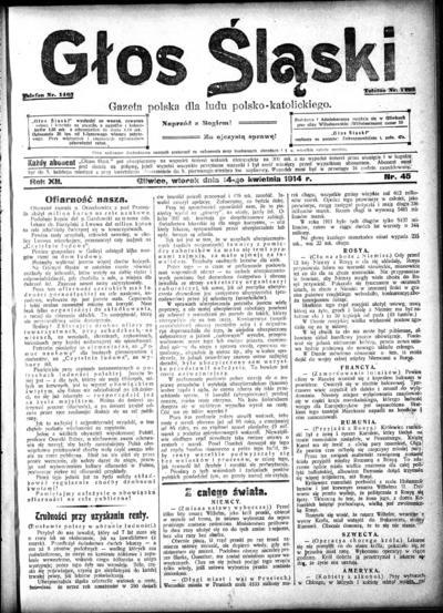 Głos Śląski - 1914-04-14