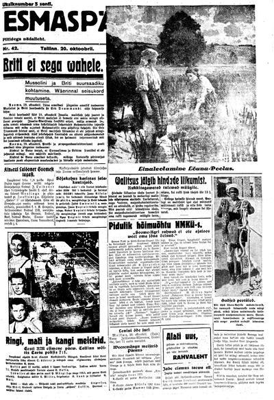Esmaspäev - 1935-10-20