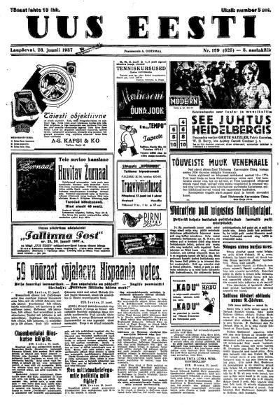 Uus Eesti - 1937-06-26