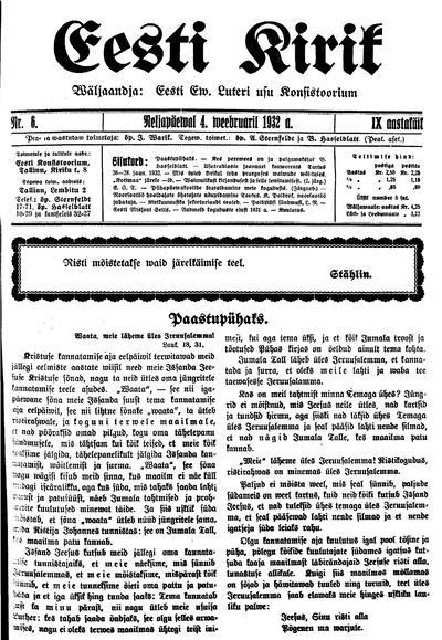 Eesti Kirik - 1932-02-04