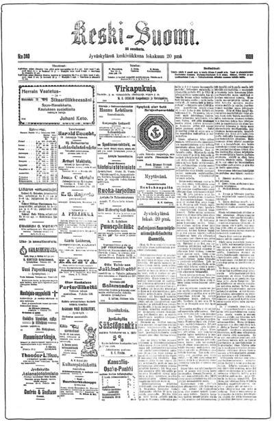Keski-Suomi, nr: 240 - 1909-10-20