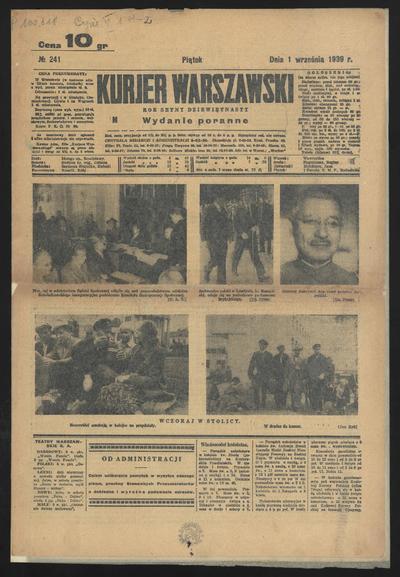 Kurjer Warszawski - 1939-09-01