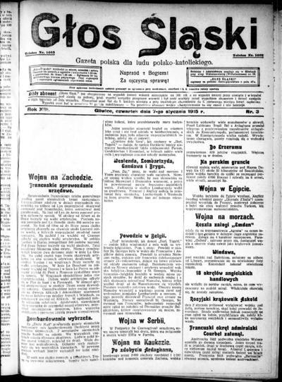 Głos Śląski - 1915-01-07