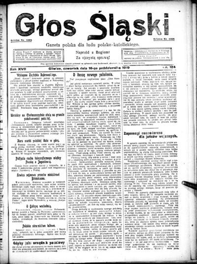 Głos Śląski - 1919-10-16