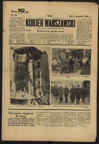 Kurjer Warszawski - 1939-09-06