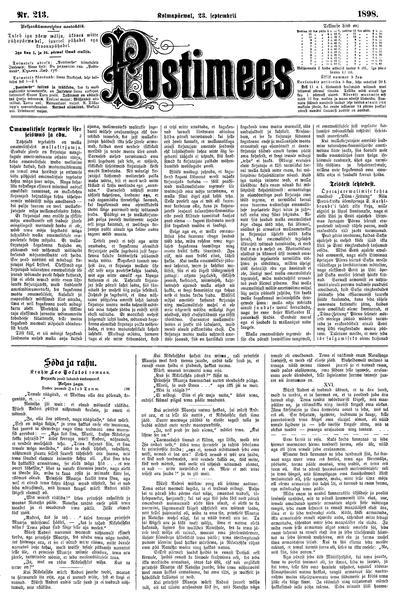 Postimees - 1898-09-23