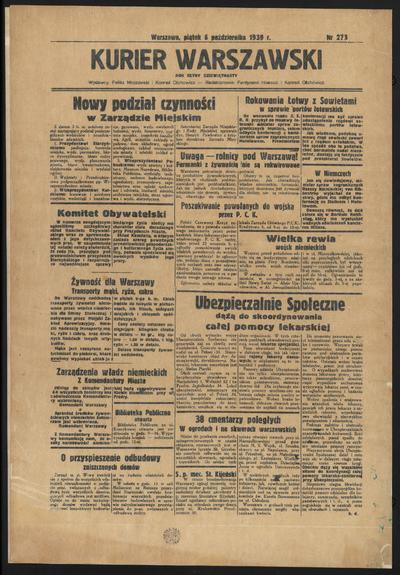 Kurjer Warszawski - 1939-10-06