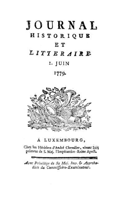 Journal historique et littéraire - 1779-06-01
