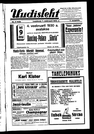 Uudisleht - 1930-02-01