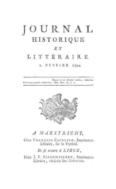 Journal historique et littéraire - 1794-02-01