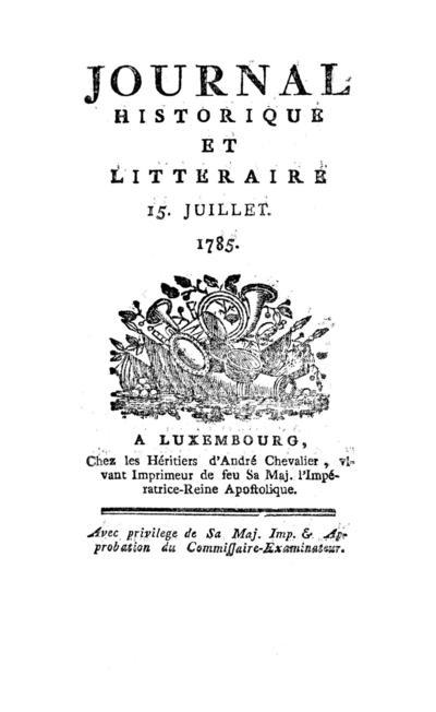 Journal historique et littéraire - 1785-07-15