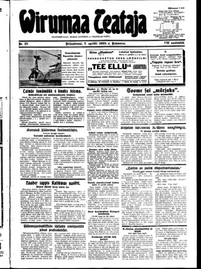 Virumaa Teataja - 1932-04-07