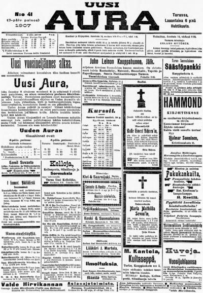Uusi Aura, nr: 78 - 1907-04-06