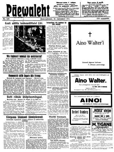Päevaleht - 1931-09-14