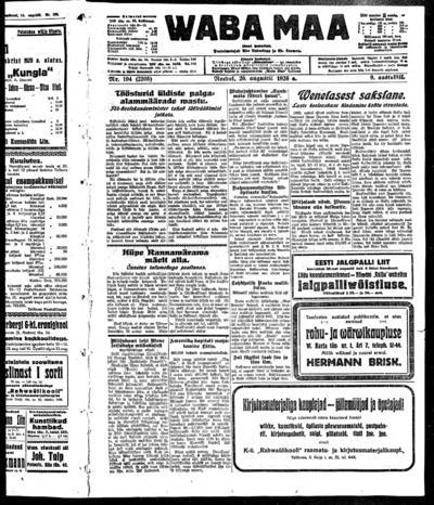 Waba Maa - 1926-08-20