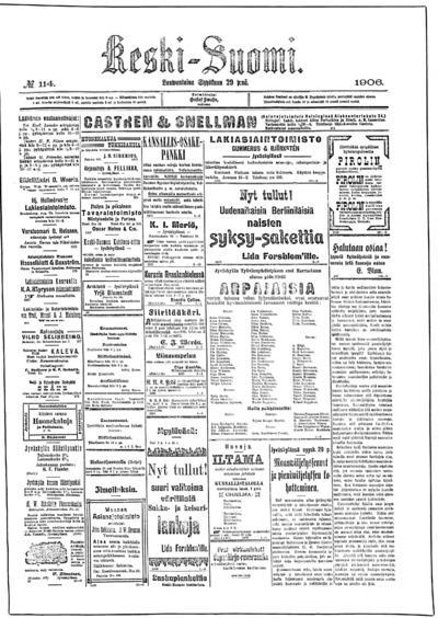 Keski-Suomi, nr: 114 - 1906-09-29