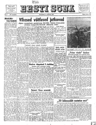 Eesti Sõna - 1944-01-12