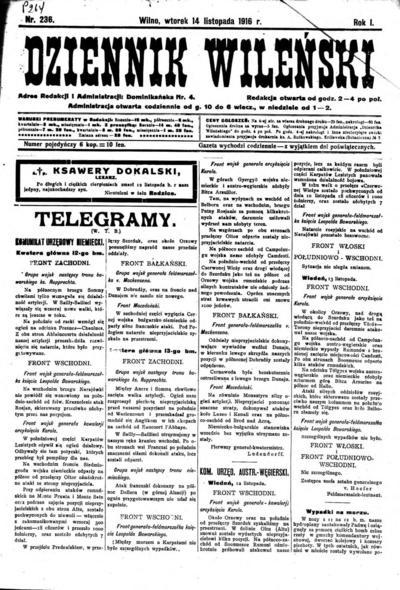 Dziennik Wileński - 1916-11-14