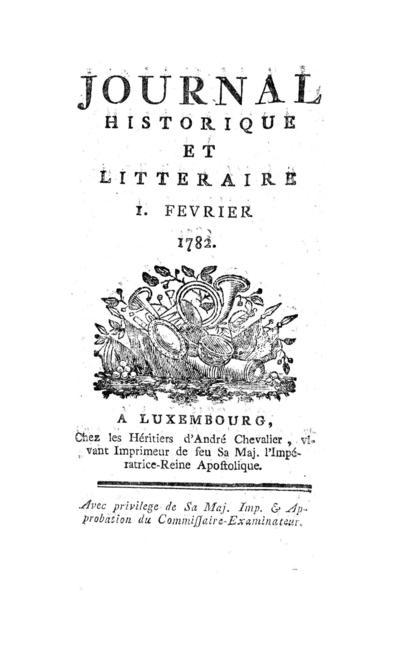 Journal historique et littéraire - 1782-02-01