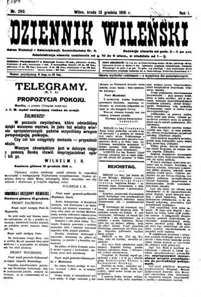Dziennik Wileński - 1916-12-13