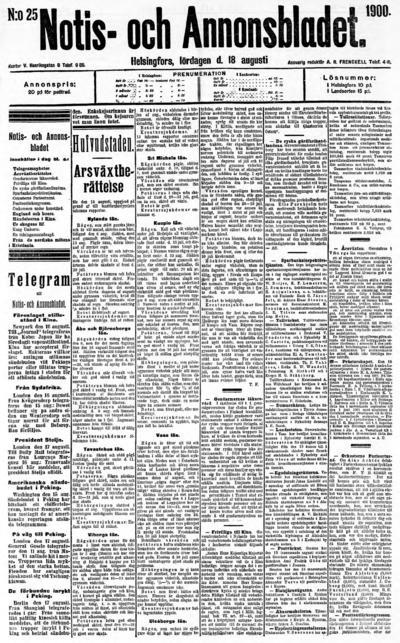 Hufvudstadsbladet, nr: 25 - 1900-08-18