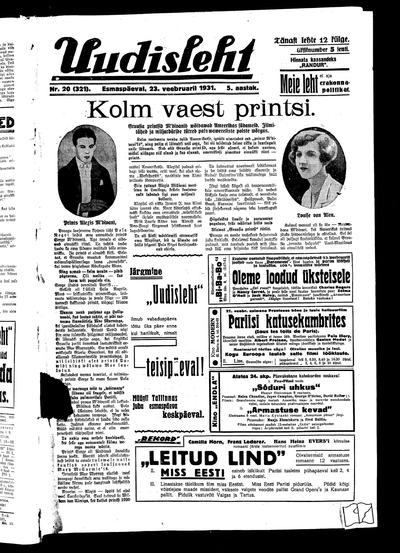 Uudisleht - 1931-02-23