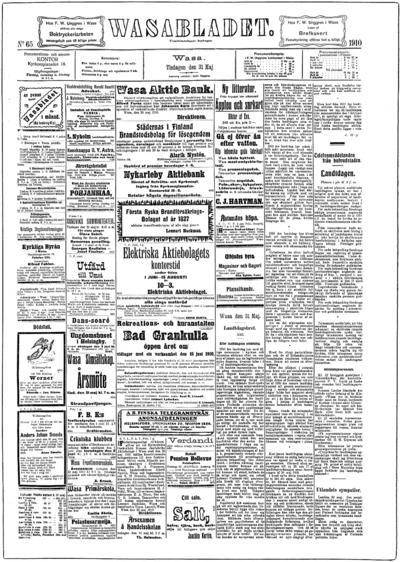 Vasabladet, nr: 65 - 1910-05-31