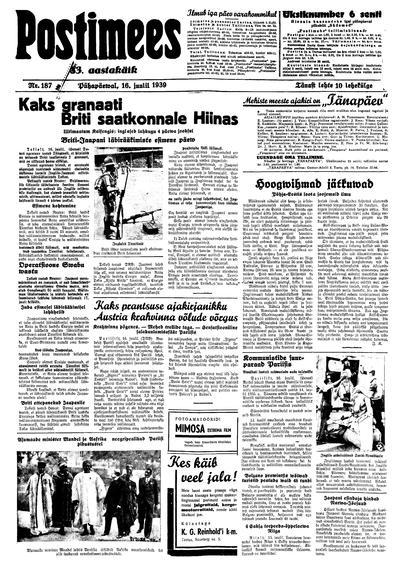 Postimees - 1939-07-16