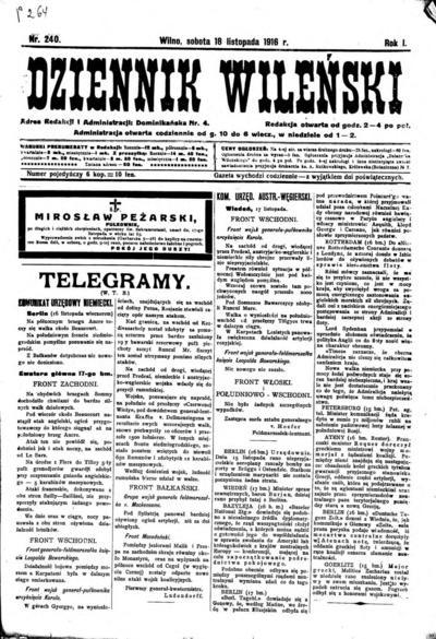 Dziennik Wileński - 1916-11-18