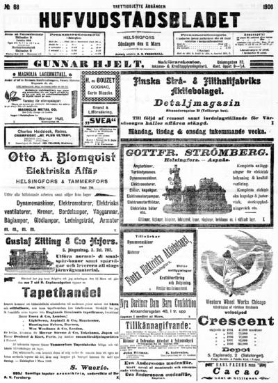Hufvudstadsbladet, nr: 68 - 1900-03-11