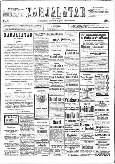 Karjalatar, nr: 3 - 1901-01-08