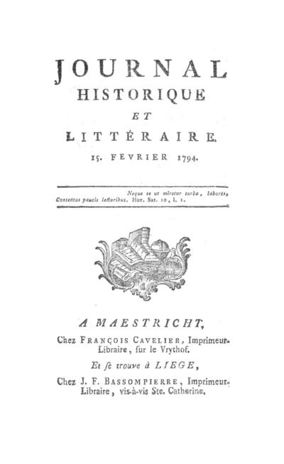 Journal historique et littéraire - 1794-02-15