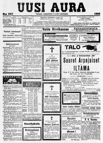 Uusi Aura, nr: 227 - 1909-10-02