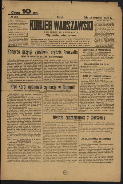 Kurjer Warszawski - 1939-09-22